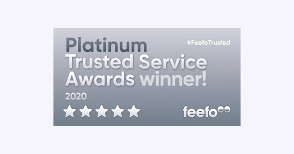 Logo: Feefo Platinum Trusted Service Awards Winner 2020