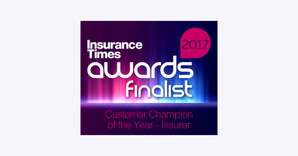 Logo: Insurance Times Award Finalist 2017 Customer Champion of the Year - Insurerer