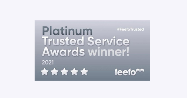 Platinum Trusted Service Award 2021